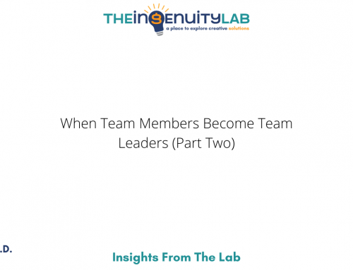 When Team Member Becomes Team Leader (Part Two)